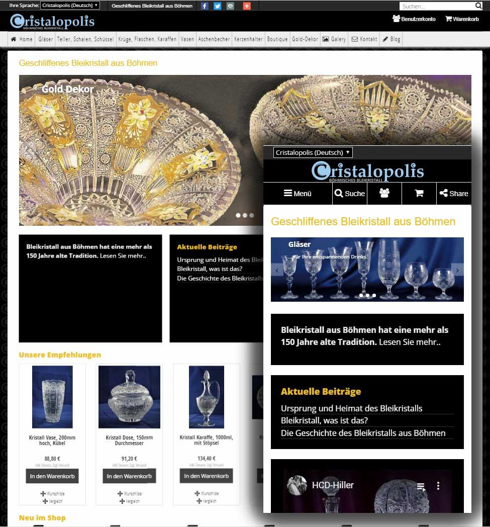 Cristalopolis.eu: Webshop, Google Ads